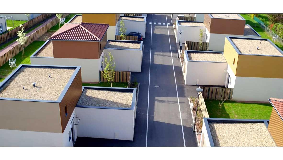 Vue aérienne habitations